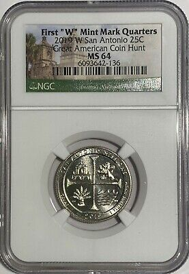 $ CDN12.14 • Buy 2019 W Ngc Ms64 Texas San Antonio Missions Quarter Great American West Point