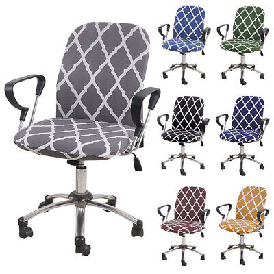 AU14.69 • Buy Split Computer Office Chair Cover Protector Stretch Desk Rotating Seat Slipcover