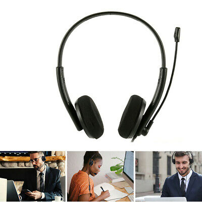 £13.19 • Buy USB & 3.5mm Headset Headphones With Microphone For Phone PC Computer Call Centre
