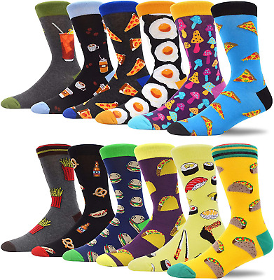 $37.37 • Buy MAKABO Fun Casual Socks For Men Colorful Patterned Funny Novelty Dress Crew Sock