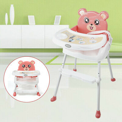 £25.01 • Buy 4 In 1 Foldable Baby High Chair Infant Feeding Table Seat With Tray Adjustable