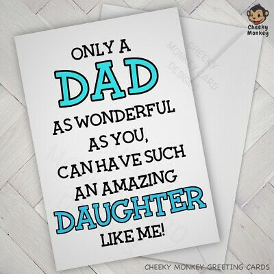 £2.85 • Buy FUNNY Fathers Day BIRTHDAY CARD DAD From DAUGHTER Amazing Joke Banter Humorous