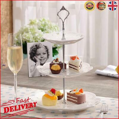 £1 • Buy Set Of 3 Tiers Cake Plate Stand Handle Fitting Party Crown Rod DIY