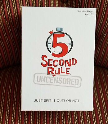 AU16.72 • Buy 5 Second Rule Uncensored Board Game New