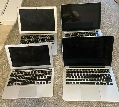 "$ CDN298.25 • Buy LOT Of 4 MacBooks 2 Pro, 2 Air ""As Is"" *Broken For Parts*"