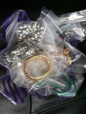 $ CDN24.19 • Buy Vintage To Now Junk Drawer Jewelry Lot Unsearched Untested, Small Flat Rate Box