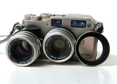 $ CDN1415.63 • Buy Contax G1 Green Label W/ Zeiss Planar T* 45mm F/2 And 35mm F/2, Strap, Case