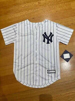 $27.99 • Buy New York Yankees Home Majestic Pinstripe Cool Base Jersey Youth Size S-XL