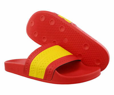 AU51.49 • Buy Adidas Adilette Slides Sandals Spain Red Yellow Mens Size 10 G55382 NEW