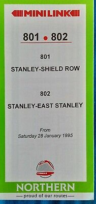 £2.99 • Buy Go Ahead Northern Minilink 801 802 Timetable Jan 1995 Stanley Go North East