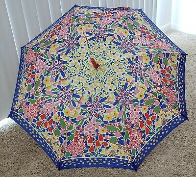 £16.32 • Buy * Ken Done * Vintage Kaleidoscope Style Umbrella * Colorful Floral * With Tag