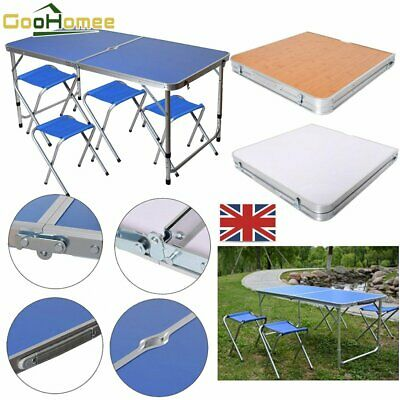 £29.70 • Buy Garden Picnic Kitchen Dining Camping Folding Portable 4-Chair Table Set Outdoors