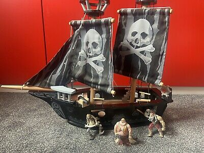 £10 • Buy Kids Early Learning Centre Wooden Pirate Play Ship Boat With Figures