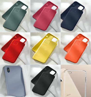 AU8.98 • Buy 2 Shockproof Case For IPhone 11 Pro Max XS XR 8P 7P 6P Thin Soft Silicone Cover