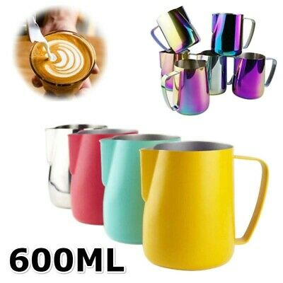 £6.57 • Buy Milk Coffee Frothing Jug Frother Stainless Steel Latte Container Pitcher Cup