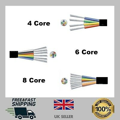£2.49 • Buy Alarm Cable 4/6/8 Core Black Burglar Detection Security Wire PVC Insulated CHEAP
