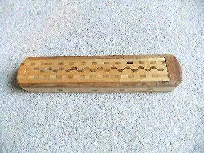 £8 • Buy Wooden Pencil Box – Inlaid - Sliding Lid – New