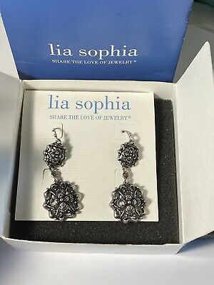 $ CDN18.14 • Buy Brand New In Box Beautiful Lia Sophia Dangle Earrings, #E61