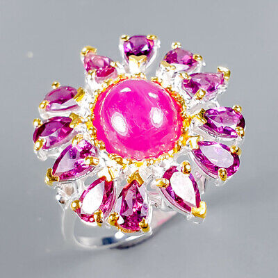 £20.58 • Buy Ruby Ring Silver 925 Sterling Vintage8x7mm Size 8.5 /R128923