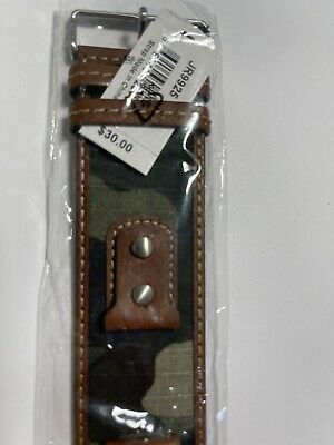 $14.99 • Buy New Fossil Brown Cami Military Cuff Men's Watch Band JR9925