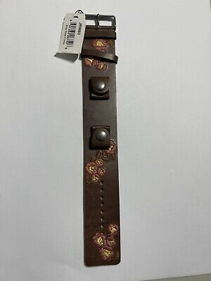$14.99 • Buy New Fossil Brown Flower Cuff Men's Watch Band JR9883