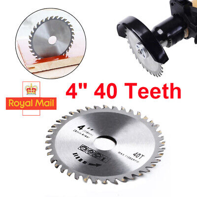 £5.99 • Buy 4  40 Teeth 110mm Circular Saw Blade Disc Wood Cutting Fits For Angle Grinder