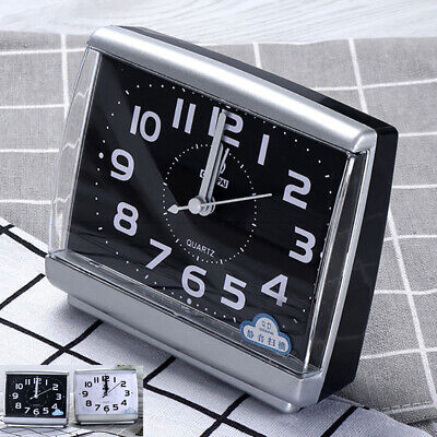 AU7.20 • Buy Bedside Desk Snooze Wake Up Analogue Clock Sweep Silent Small Quartz Alarm Clock
