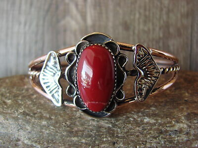 £36.04 • Buy Native American Jewelry Copper & Red Howlite Bracelet By Bobby Cleveland! Navajo