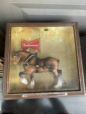 """$ CDN75.53 • Buy Vintage Budweiser Famous Clydesdale Horse Shadow Box Sign Advertising 13.5""""x13.5"""