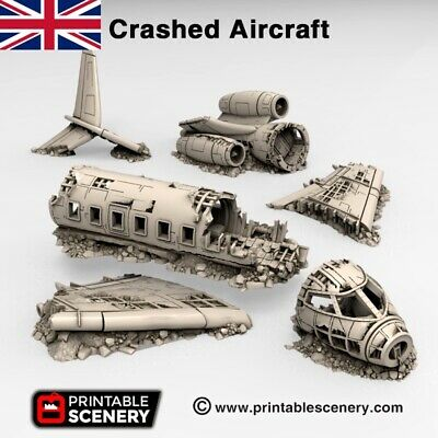 £85 • Buy Crashed Aircraft - Brave New Worlds Wasteland 28mm Terrain Scatter D&D DnD