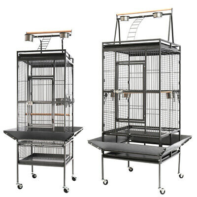 £109.95 • Buy Large Metal Rolling Parrot Cage Canary Cockatiel Parakeet Bird Cage Play Top UK