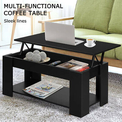 AU93.99 • Buy Modern Lift Up Top Mechanical Coffee Table Hidden Storage Living Room Home Offic