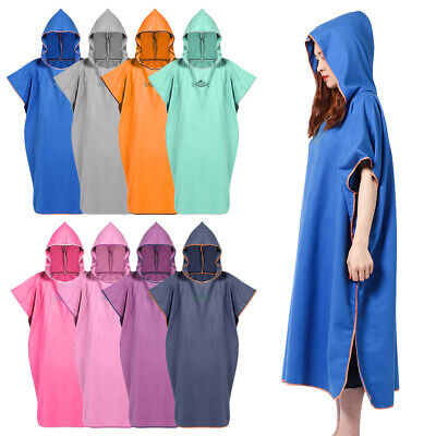 £13.31 • Buy Unisex Beach Changing Towel Surf Poncho Hooded Wetsuit Quick-Dry Towel Robe UK