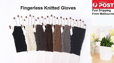 AU6.99 • Buy Winter Gloves  Fingerless Fashion Knitted Gloves Touch Screen AU Stock