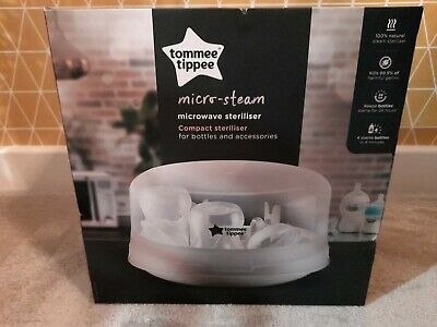 £25 • Buy Tommee Tippee Closer To Nature Microwave Steam Steriliser Holds - 4 X Bottles