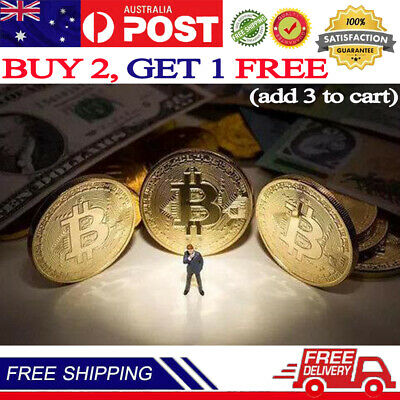 AU7.99 • Buy Bitcoin Collectible Coin BTC Gold Plated 1 Ounce 40mm Limit Collection Send Gift