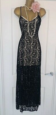 £15 • Buy Vintage 1920s Lace Charleston Flapper Gatsby Downton Evening Dress Size 12 NEW