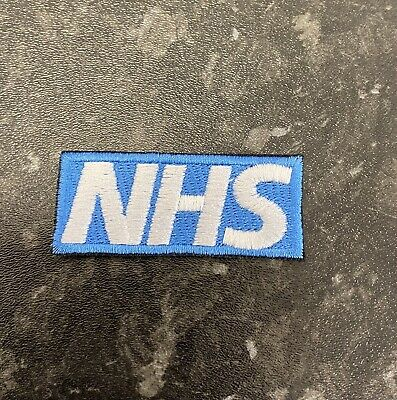 £2.25 • Buy NHS EMBROIDERED IRON ON /SEW ON PATCH Logo