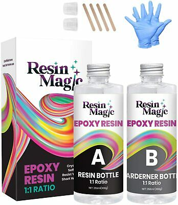 £18.99 • Buy Epoxy Resin Kit 1:1 Ratio Crystal Clear Self Levelling For Casting, 2 X 250ml UK