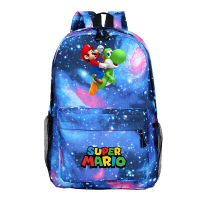 £11.99 • Buy Super Mario Kids Backpack, School Bag For Boys And Teenager, Super Mario Blue
