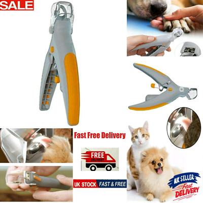 £4.99 • Buy Toe LED Light Nail Clippers Cutter Trimmer Pet Dog Cat Claws 5X Magnification UK