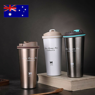 AU22.12 • Buy Insulated Travel Coffee Mug Cup Thermal Stainless Steel Flask Vacuum Thermos AUS