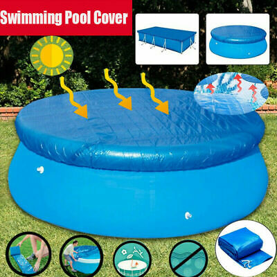 £16.99 • Buy SWIMMING POOL Solar Cover 8FT 10FT Heats Water Heat Clean Round Cover UK