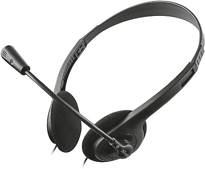 £11.40 • Buy Trust Chat Headset With Microphone For PC And Laptop, Skype Headset With 3.5 Mm