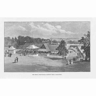 £9.95 • Buy DARLINGTON Co Durham The Royal Agricultural Society Show - Antique Print 1895