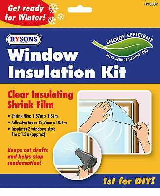 £2.87 • Buy Shrink Film Window Insulation Kit Draught Excluder Double Glazing Condensation
