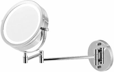 £10.59 • Buy 10X Magnifying Round Double-side Mirror Wall Mounted Make Up Shaving Bathroom