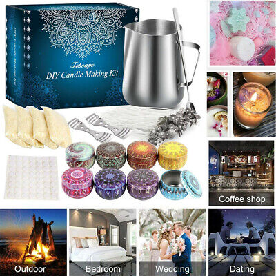£18.22 • Buy DIY Complete Candle Melt Making Kits Starter Dyes Wicks Soy Wax Candle Pitcher