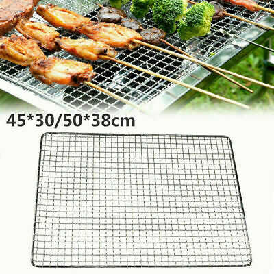 £5.79 • Buy BBQ Stainless Steel Grill Grate Nets Replacement Cook Rack Mesh Wire Grid