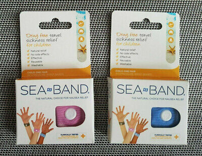 £5.29 • Buy Sea Band CHILD Nausea Travel Sickness Relief Acupressure Wristband PINK Or BLUE